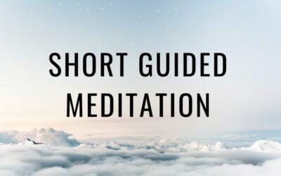 Meditation For Beginners | Short Guided Meditation